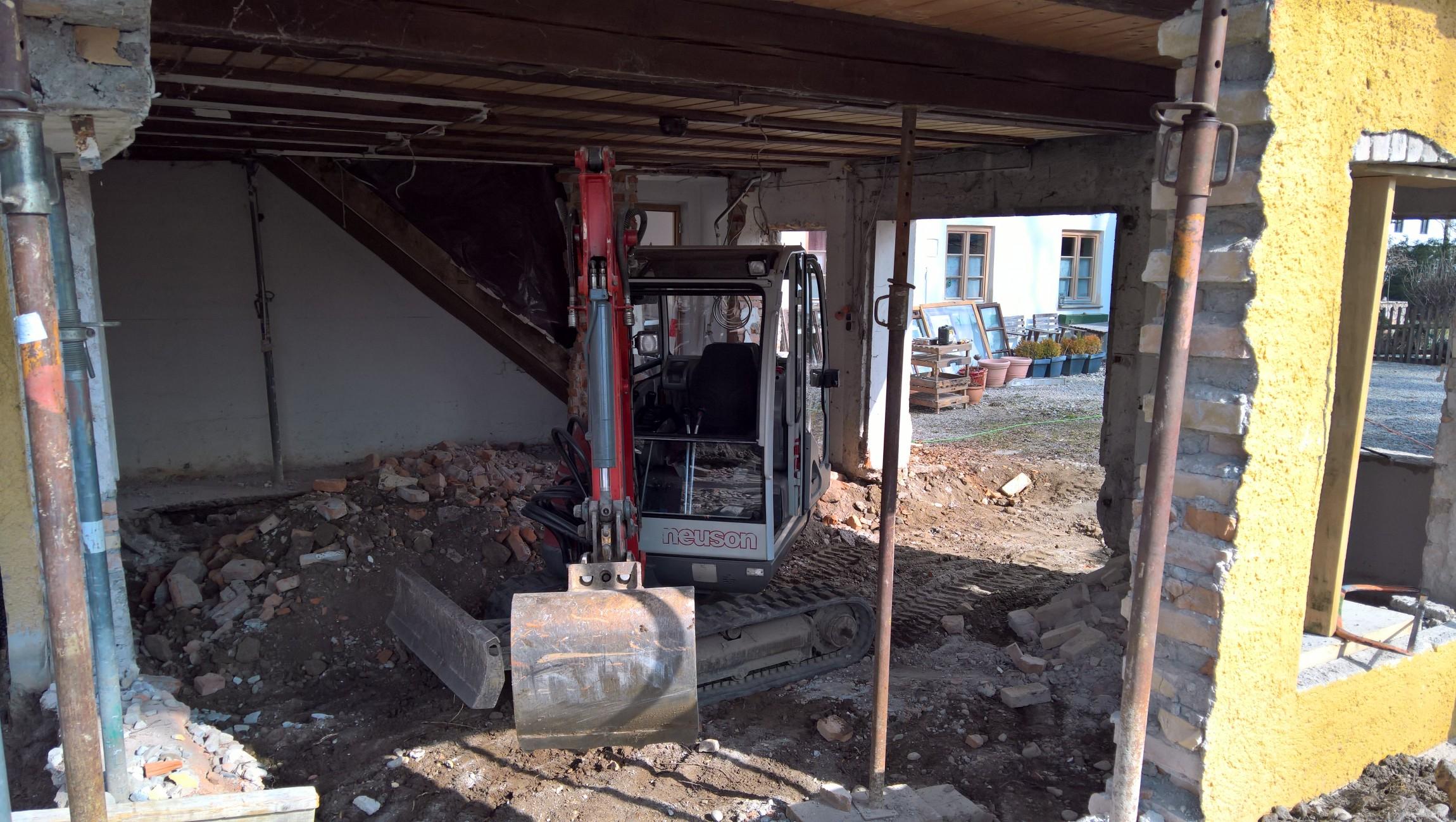 Umbauarbeiten im Haus